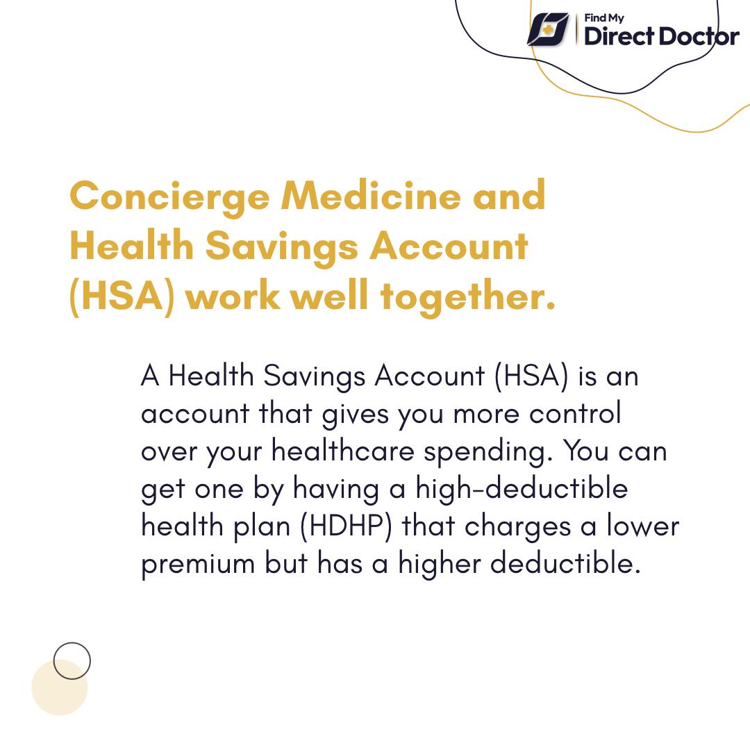 Concierge Medicine and HSA